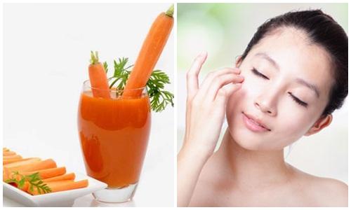 Bí quyết trị tàn nhang bằng cà rốt