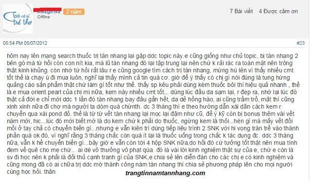 Review kem Sắc Ngọc Khang