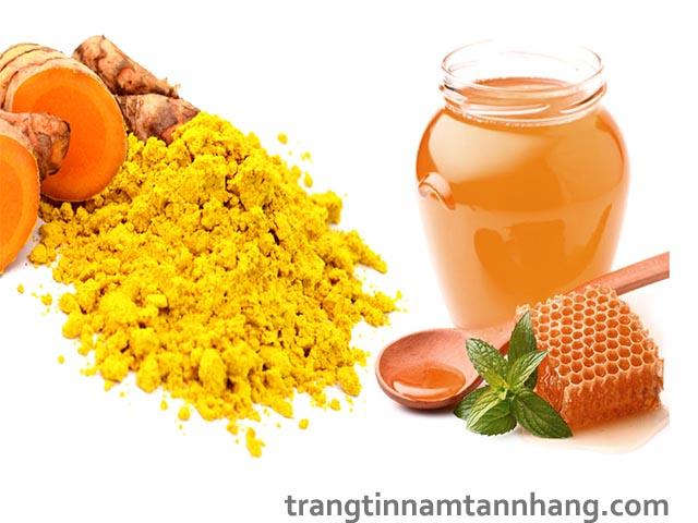 Cách trị nám da bằng mật ong và bột nghệ
