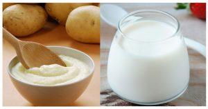 Kết hợp khoai tây và sữa chua trị nám da