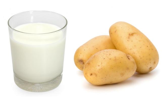Cách làm trắng da bằng khoai tây và sữa tươi
