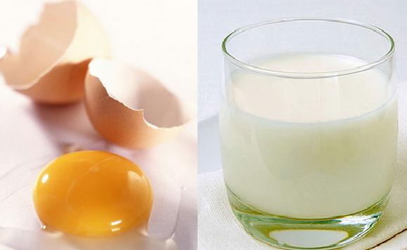 Trứng gà và sữa tươi - một mặt nạ dưỡng da và trị tàn nhang lí tưởng
