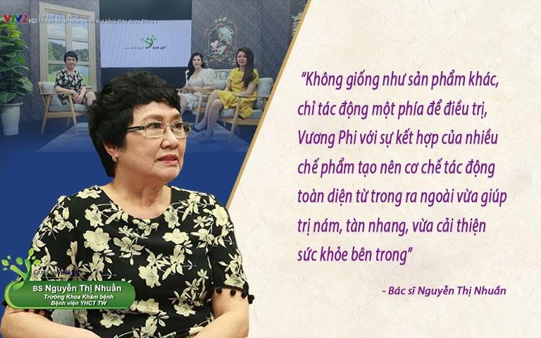 Đánh giá chuyên môn của bác sĩ Nguyễn Thị Nhuần