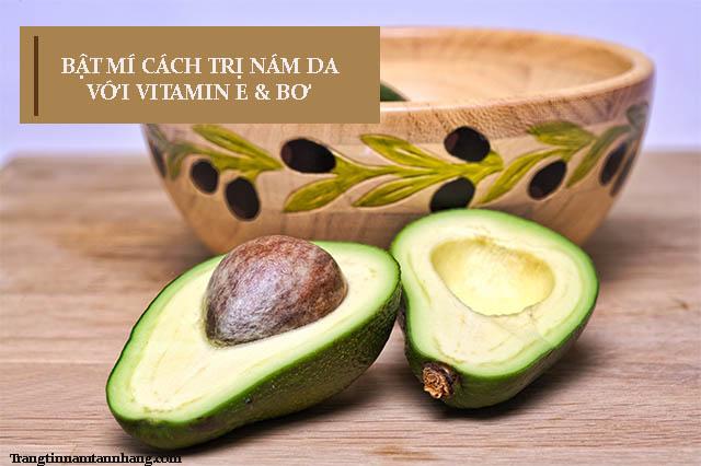 Trị nám da bằng vitamin E và bơ