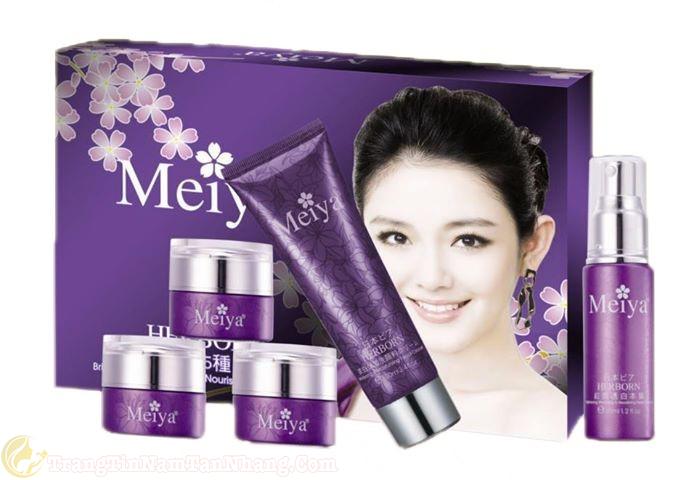 bộ mỹ phẩm trị nám tàn nhang Meiya 5 in 1 giá bao nhiêu