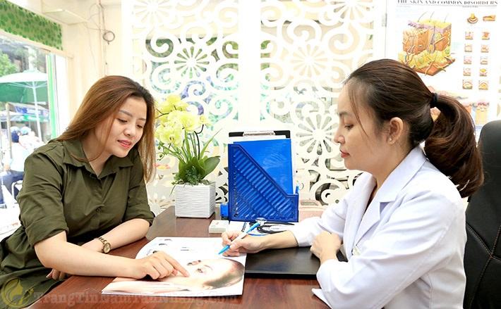 tư vấn cho bệnh nhân trị nám da sắc tố Hori Nevus bằng phương pháp laser