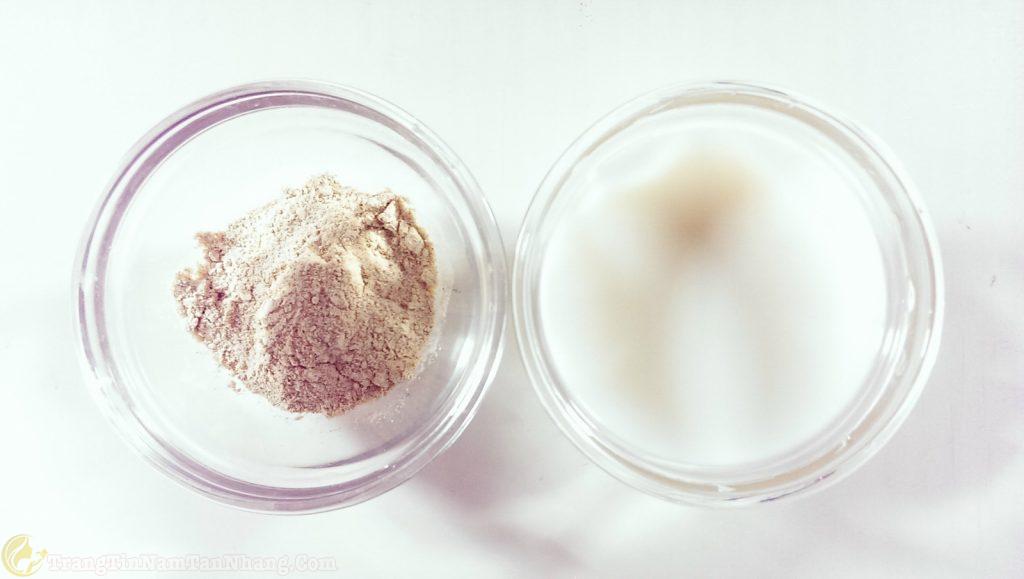 Cám gạo và sữa chua trị tàn nhang an toàn cho mẹ bầu