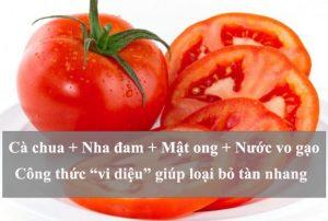 Trị tàn nhang bằng cà chua