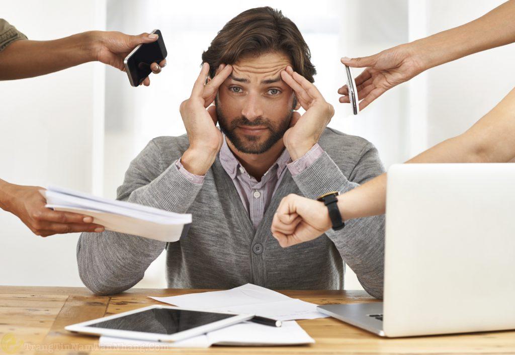 Căng thẳng gây nám da ở nam giới