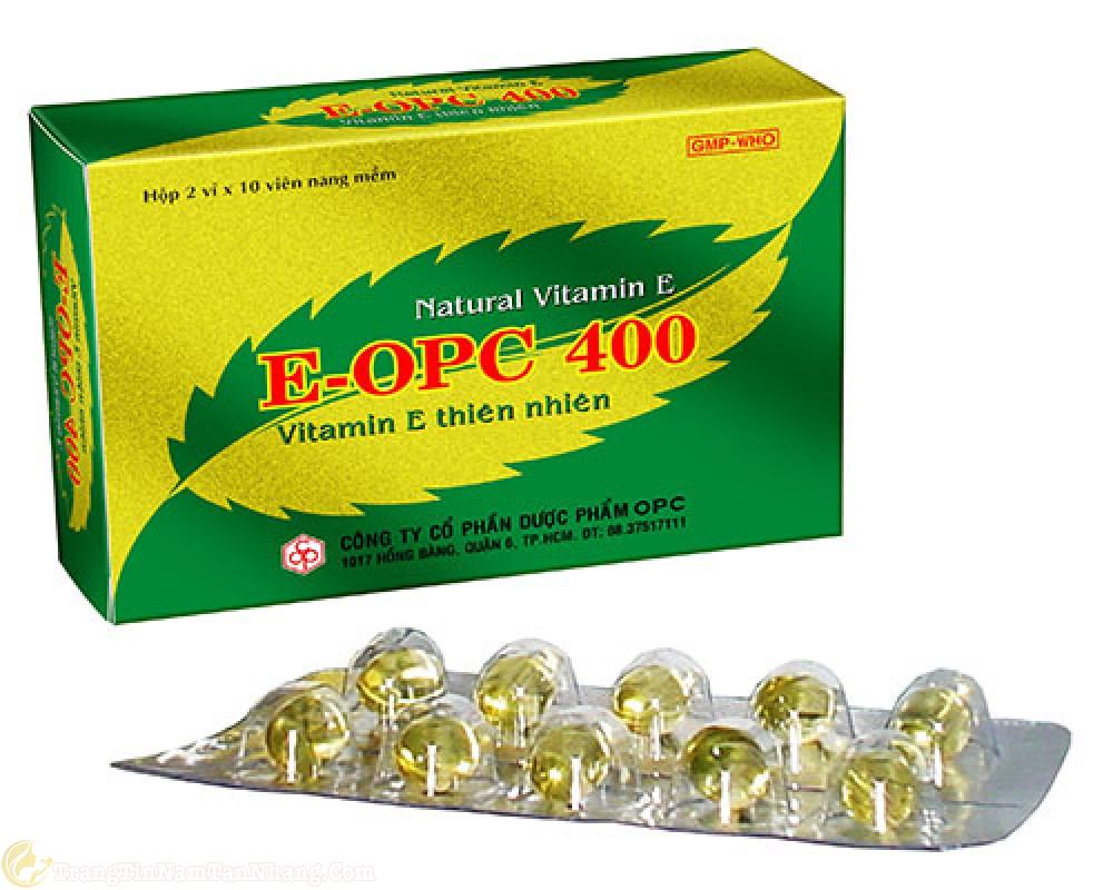 Thuốc vitamin E trị tàn nhang
