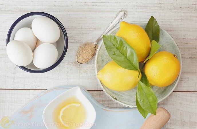 Cách trị nám da bằng lòng trắng trứng gà và chanh tươi