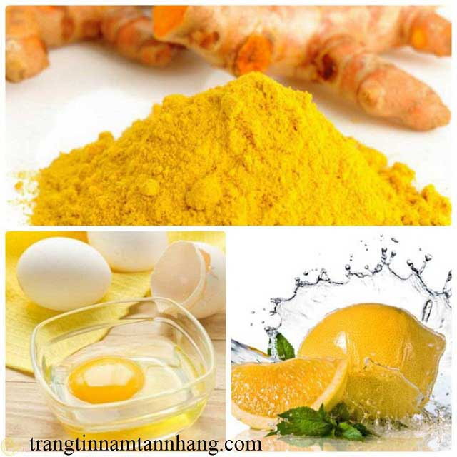 Cách trị nám da bằng lòng trắng trứng gà và bột nghệ