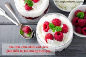cách trị tàn nhang bằng sữa chua