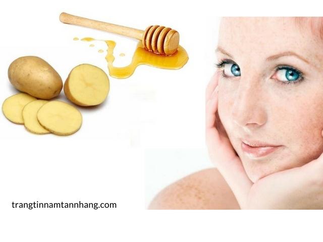 Mặt nạ trị nám da với khoai tây và mật ong