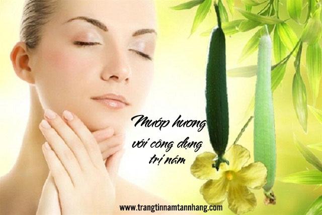 Mẹo trị nám dưỡng da với mướp hương