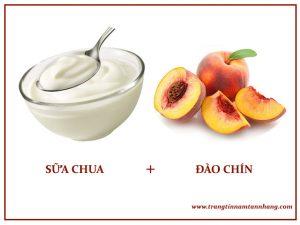 Cách trị nám da chân bằng sữa chua và quả đào