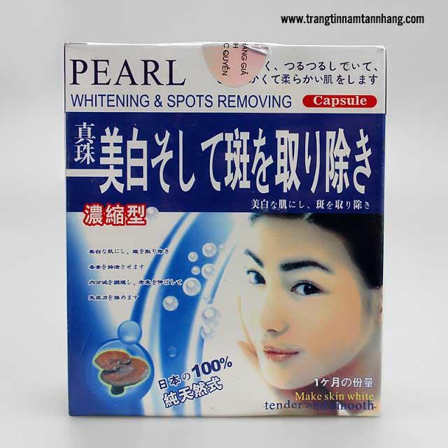 Thông tin về viên uống trị nám Pearl Whitening & Spots Removing
