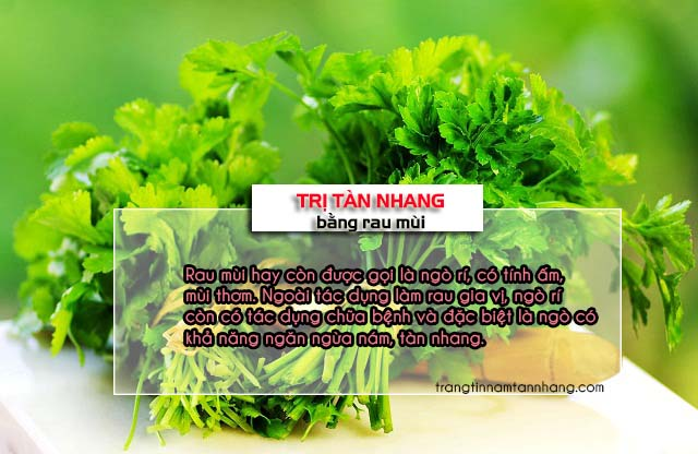 5 cách trị tàn nhang bằng rau mùi