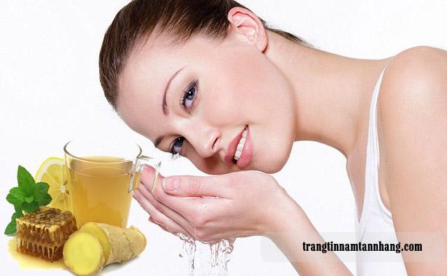 Rửa mặt bằng nước gừng có tác dụng gì ?