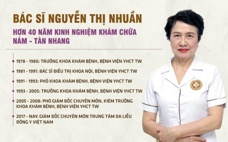 Bác sĩ Nguyễn Thị Nhuần đã có hơn 40 năm chăm sóc sức khỏe và sắc đẹp cho hàng vạn chị em
