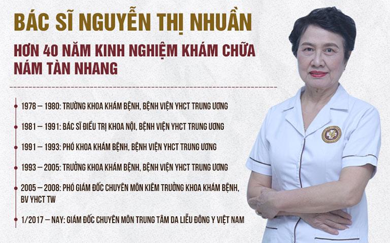 Bác Sĩ Nhuần với hơn 40 năm kinh nghiệm về Đông y đã giúp hàng nghìn người hết nám