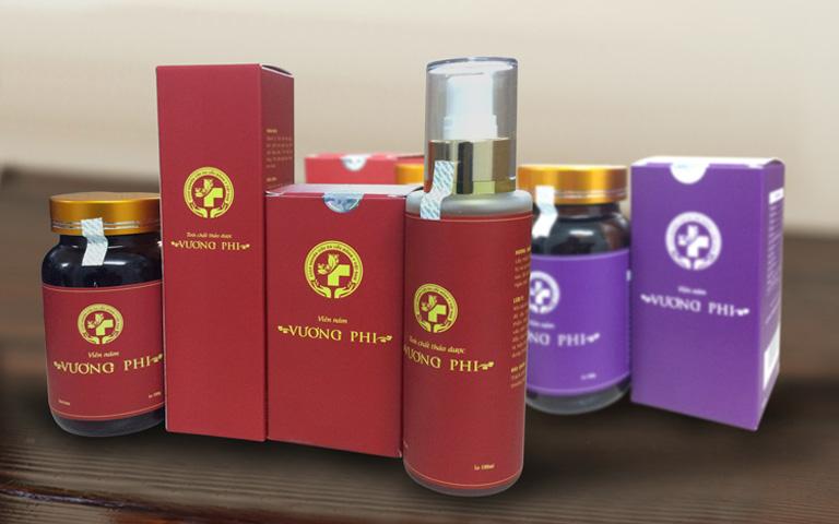Bộ sản phẩm trị nám da, tàn nhang Vương Phi