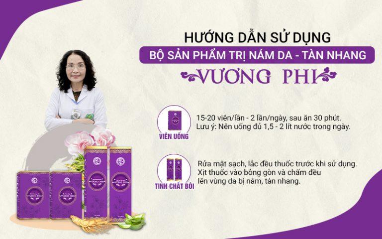 Bộ sản phẩm Vương Phi được bào chế tiện dụng, giúp tối ưu quy trình và hiệu quả điều trị nám sạm, tàn nhang