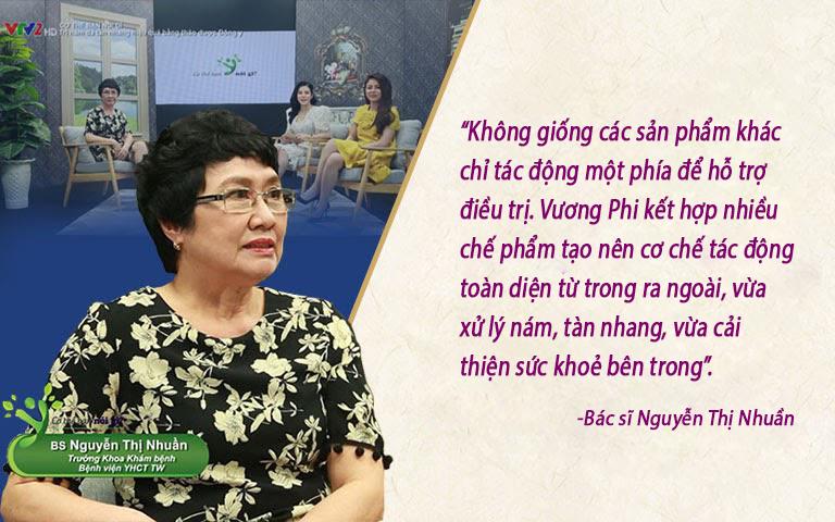 Đánh giá của bác sĩ Nguyễn Thị Nhuần về bộ sản phẩm Vương Phi