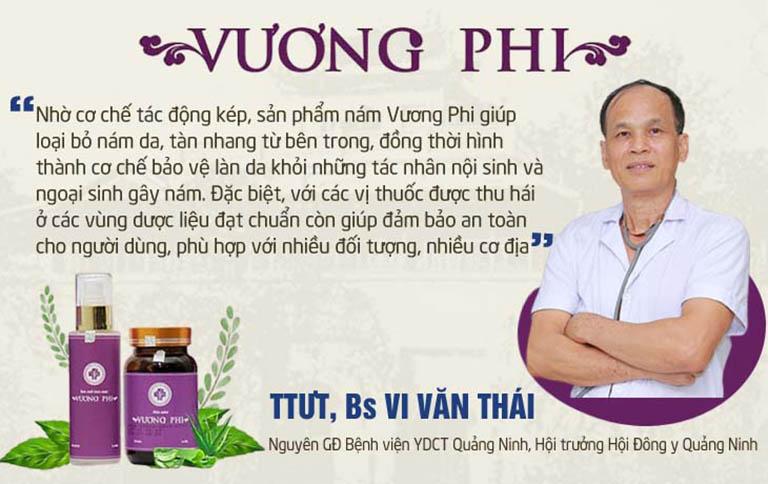 Bs Vi Văn Thái cho rằng cơ chế tác động đã quyết định hiệu quả vượt trội của bộ sản phẩm Vương Phi