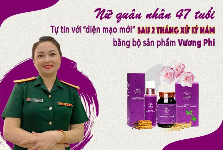 Làn da mờ nám, sáng mịn sau 2 tháng sử dụng bộ sản phẩm Vương Phi của chị Hồng Vân